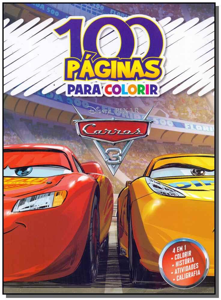 100 Páginas Para Colorir - Carros 3