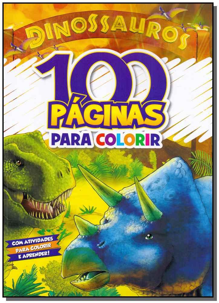 100 Páginas Para Colorir - Dinossauros