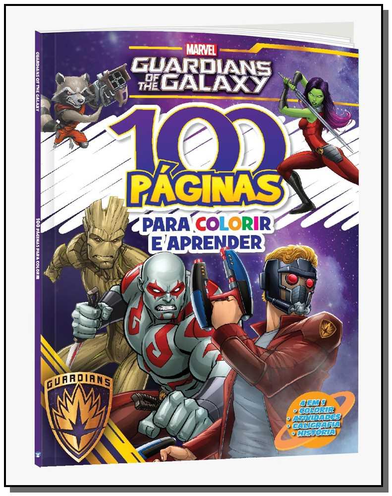 100 Paginas para Colorir - Marvel Guardiões da Galaxia