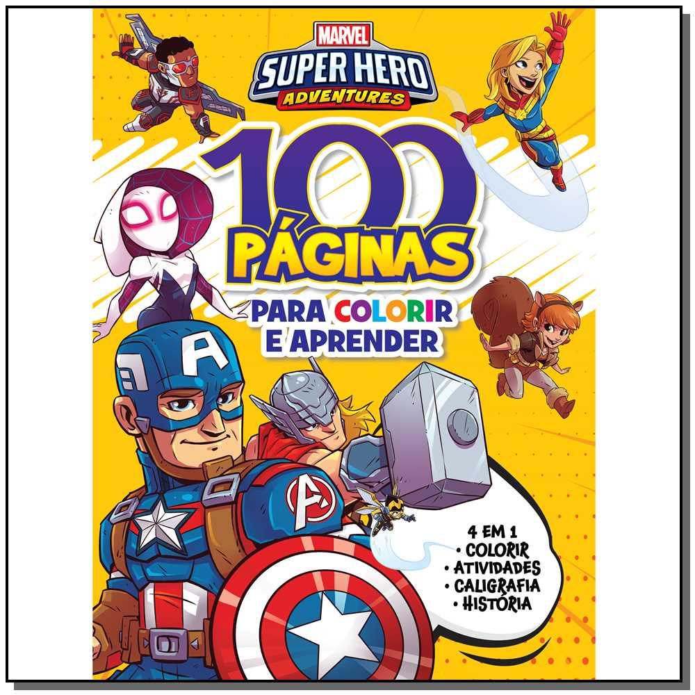 100 Paginas para Colorir - Marvel Super Heros Adventure
