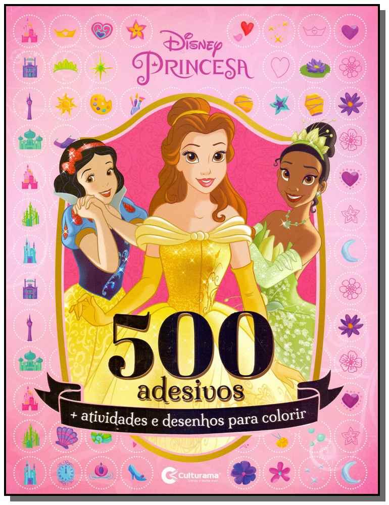 500 Adesivos - Disney Princesa