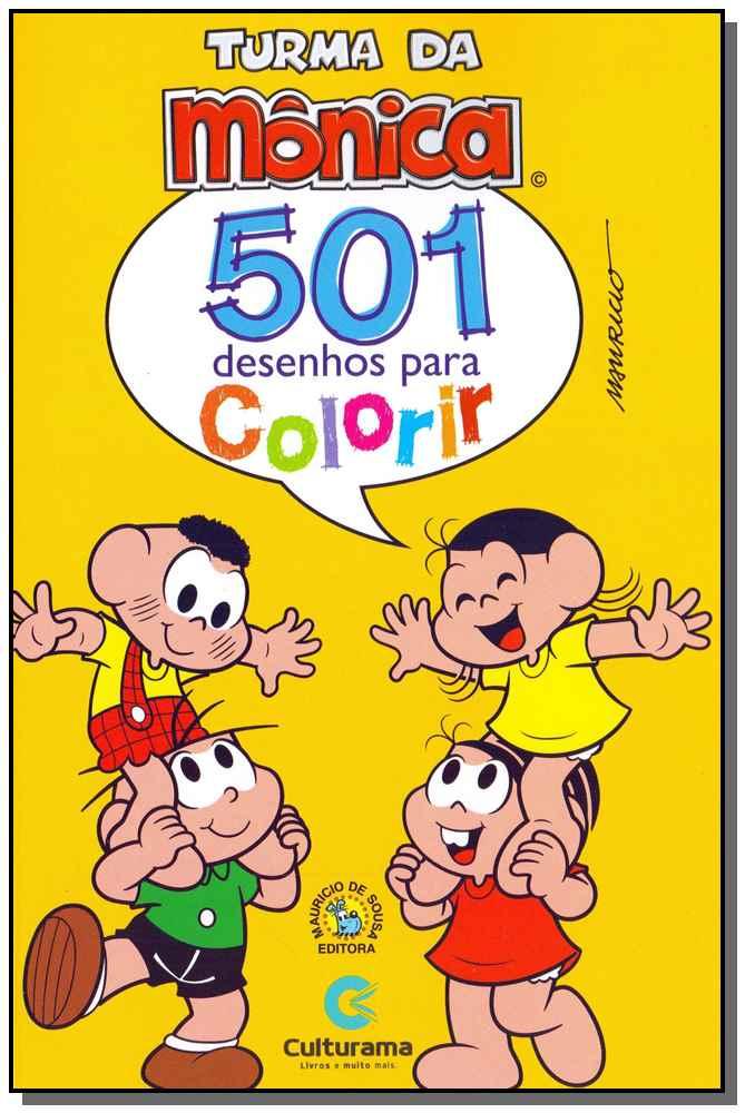 501 Desenhos Para Colorir - Turma da Mônica