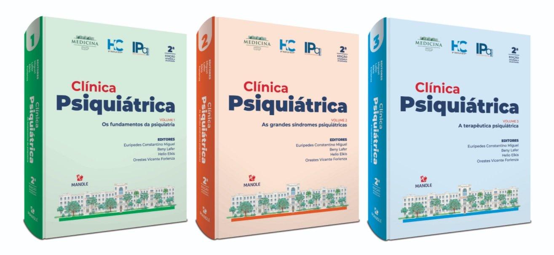 Clínica Psiquiátrica HC FMUSP 2ª edição ampliada e atualizada - coleção 3 volumes