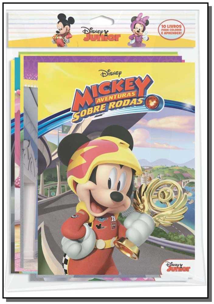Disney Mickey Aventura Sobre Rodas - 10 Livros