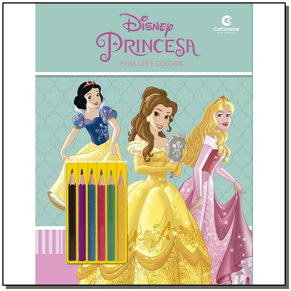 Ler e Colorir Blister Disney Princesas