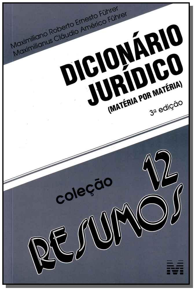 Resumo (12) Dicionário Jurídico