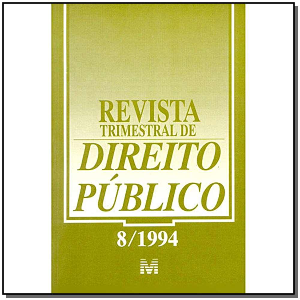 Revista Trimestral De Direito Publico Ed. 08