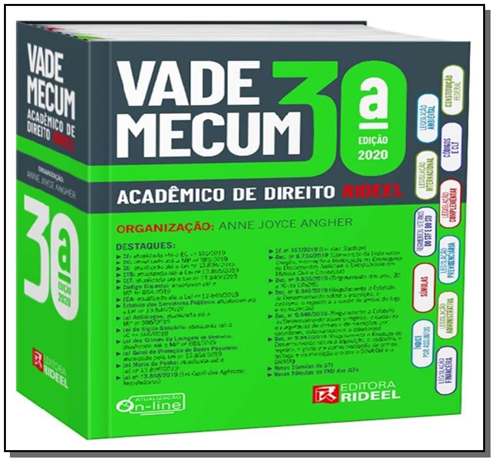 Vade Mecum Acadêmico de Direito Rideel (brinde planner)